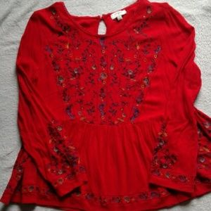 Umgee  red floral  top
